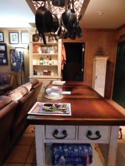 Antique table with guest book